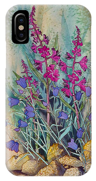 Fireweed And Bluebells IPhone Case