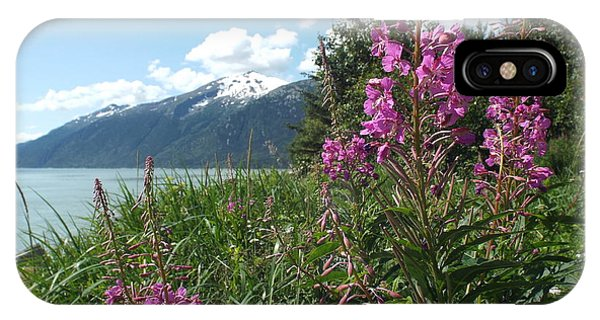 IPhone Case featuring the photograph Fireweed At Yakutania Point by Barbara Von Pagel