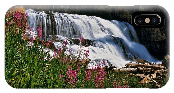 Fireweed Blooms Along The Banks Of Granite Creek Wyoming IPhone Case
