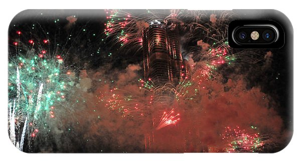 Burj Khalifa Fireworks 6 IPhone Case
