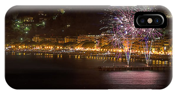 IPhone Case featuring the photograph Fireworks Alassio 2013 3523 - Ph Enrico Pelos by Enrico Pelos