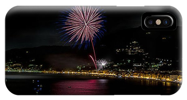 IPhone Case featuring the photograph Fireworks Alassio 2013 3535 - Ph Enrico Pelos by Enrico Pelos