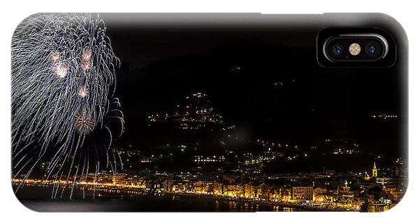 IPhone Case featuring the photograph Fireworks Alassio 2013 3580 - Ph Enrico Pelos by Enrico Pelos