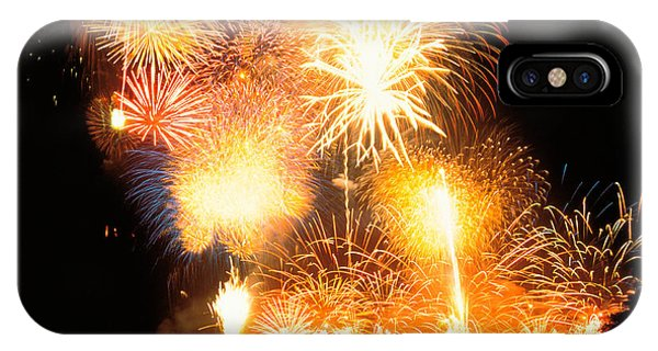Fireworks iPhone Case - Fireworks Display In Night by Panoramic Images