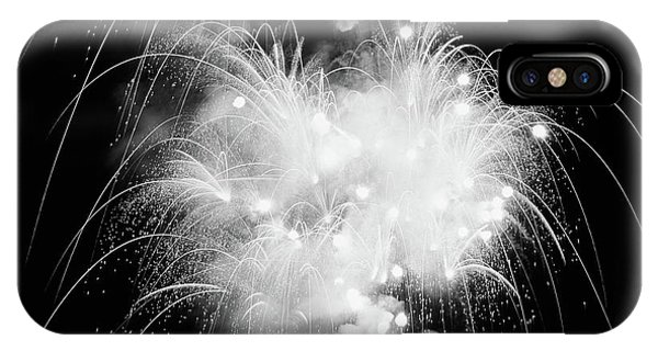 Fireworks iPhone Case - Fireworks Exploding In Night Sky by Vintage Images