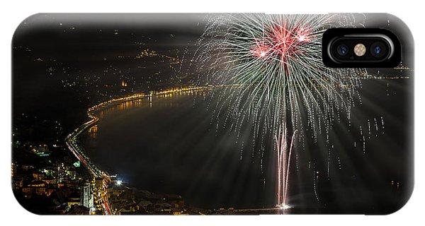 Fireworks Laigueglia 2013 3217d - Ph Enrico Pelos IPhone Case