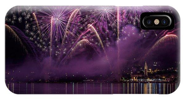 Fireworks Lake Pusiano IPhone Case