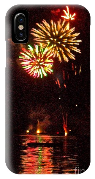 4th July iPhone Case - Fireworks by Linda Zolten Wood