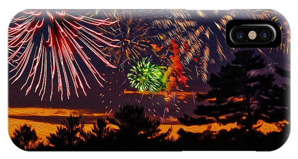IPhone Case featuring the photograph Fireworks No.1 by Mark Myhaver