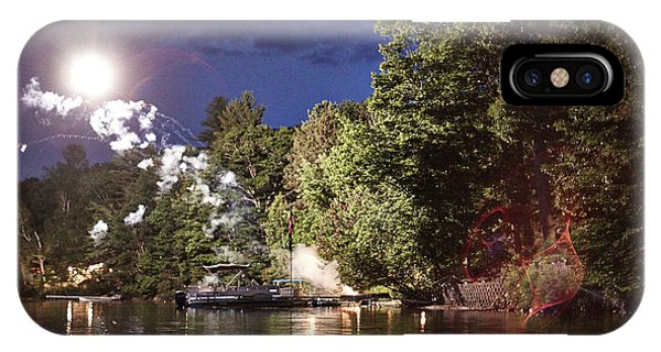 Fireworks iPhone Case - Fireworks On A Main Pond by Michael D. Wilson