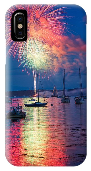 Fireworks Over Boothbay Harbor IPhone Case
