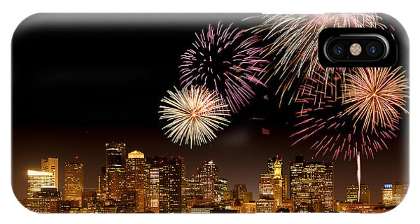 Fireworks Over Boston Harbor IPhone Case