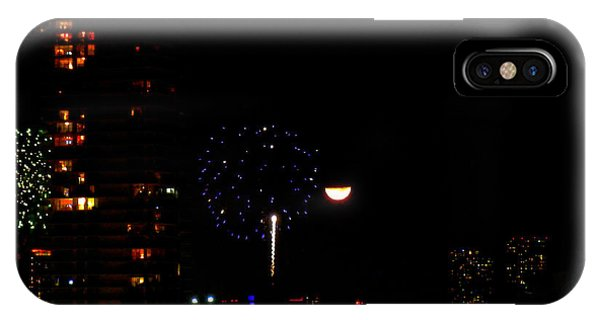 Fireworks Over Miami Moon II IPhone Case