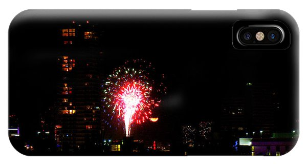 Fireworks Over Miami Moon IPhone Case
