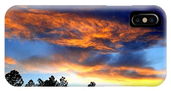 Firey Sunset Of Angel Fire IPhone Case