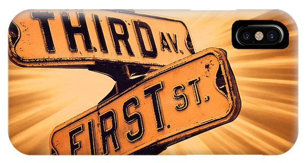 Street Sign iPhone Case - First And Third by Scott Norris