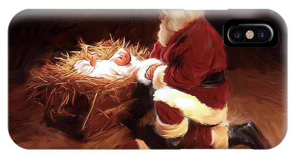 Santa Claus iPhone Case - First Christmas by Mark Spears