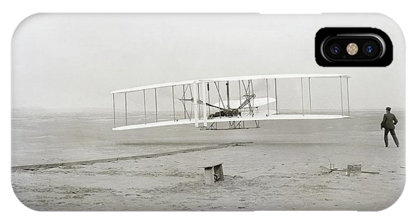 Airplanes iPhone Case - First Flight Captured On Glass Negative - 1903 by Daniel Hagerman