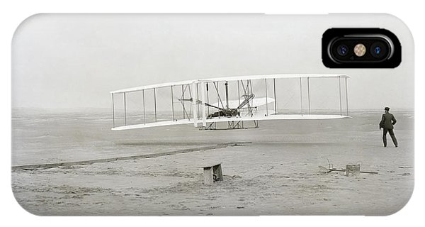 Airplane iPhone Case - First Flight Captured On Glass Negative - 1903 by Daniel Hagerman