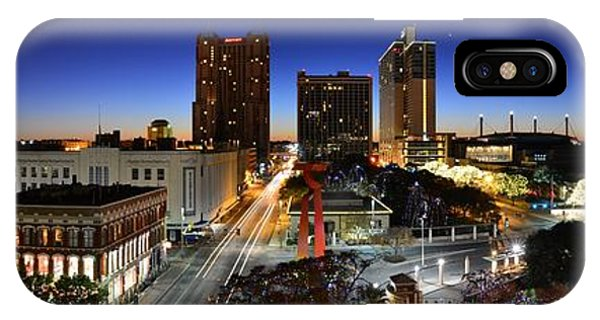 The Alamo iPhone Case - First Light On San Antonio Skyline - Texas by Silvio Ligutti