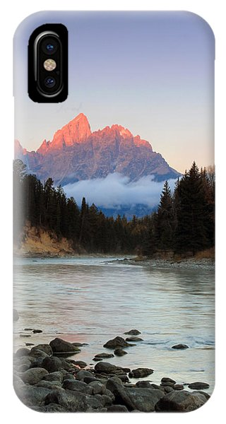 First Light On The Grand Teton IPhone Case