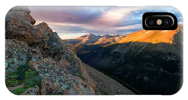 First Light On The Mountain IPhone Case