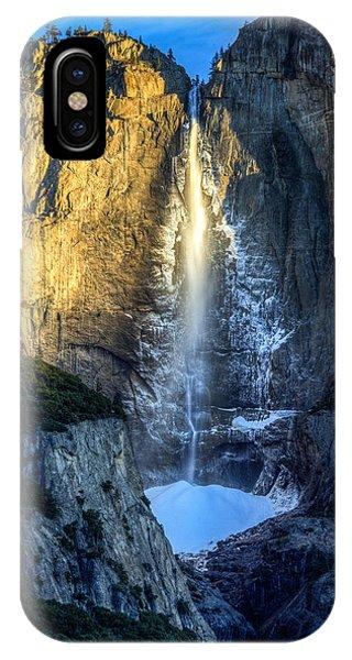 First Light On Yosemite Falls IPhone Case