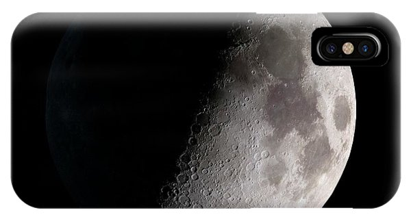 Half Moon iPhone Case - First Quarter Moon by Nasa/gsfc-svs/science Photo Library