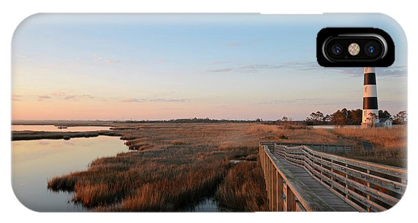 First Rays On Bodie Island IPhone Case