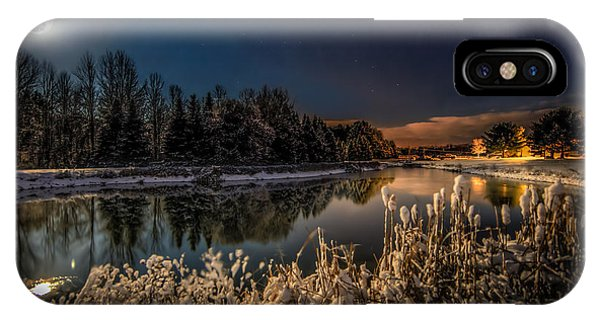 Full Moon iPhone Case - First Snow by Everet Regal