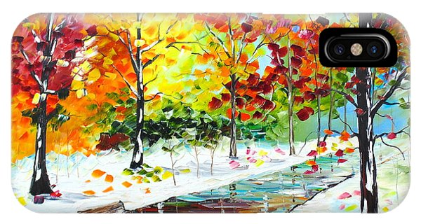IPhone Case featuring the painting First Snow by Kevin  Brown