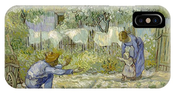 Van Gogh Museum iPhone Case - First Steps - After Millet by Vincent van Gogh