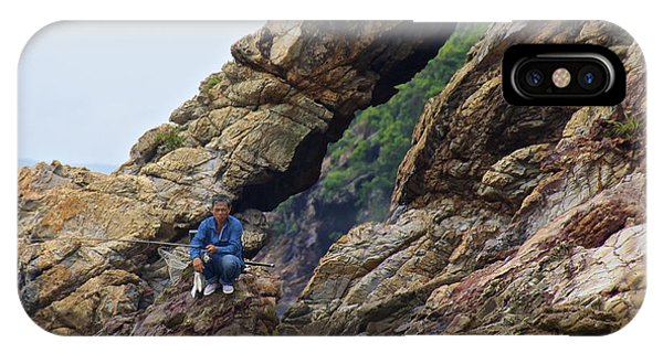 Fisherman On Rocks  IPhone Case