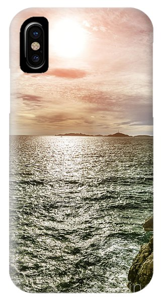 Fisherman On The Cliff At Sunset Phone Case by Pier Giorgio Mariani