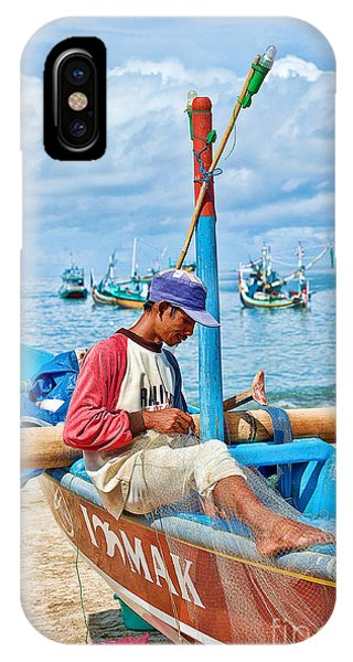 IPhone Case featuring the photograph Fisherman by Yew Kwang