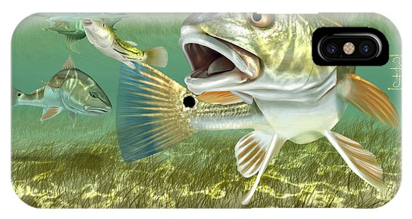 Fisherman's Post Redfish IPhone Case