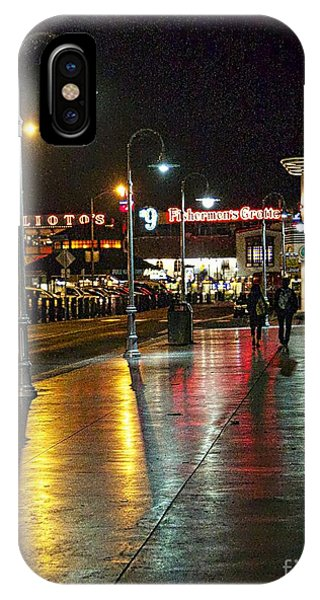 Fisherman's Wharf At Night Phone Case by Tina Araquistain