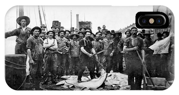 Schooner iPhone Case - Fishermen 1888 Puget Sound - Washington by Daniel Hagerman