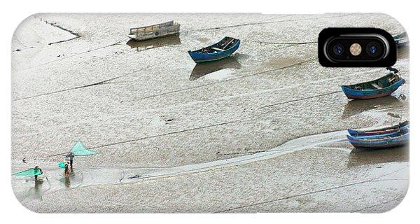 Fishermen Carrying Fish Net And Fishing IPhone Case