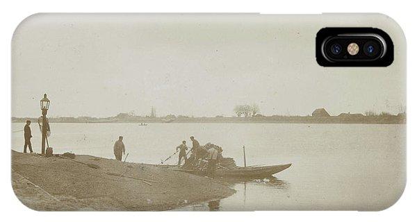 Fishermen On The Bank Of A River, Henry Pauw Van Wieldrecht Phone Case by Artokoloro