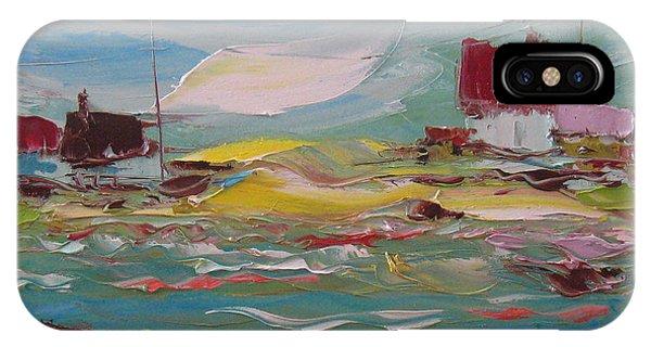Fishers Bay Phone Case by Solomoon Art Studio