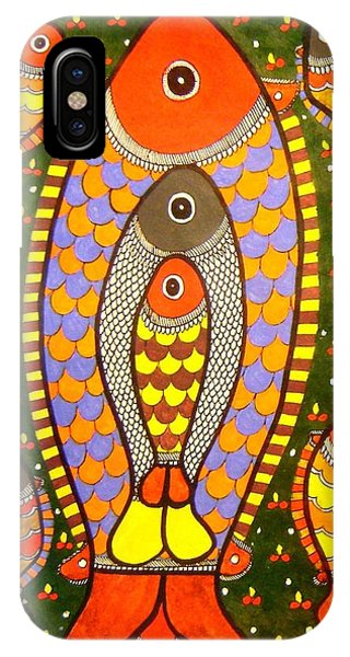 Fishes-madhubani Painting IPhone Case