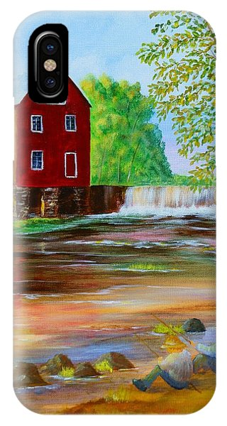 Fishin' At The Old Mill IPhone Case