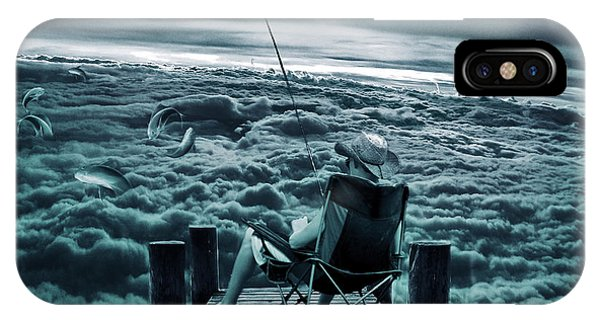 Fishing Above The Clouds IPhone Case