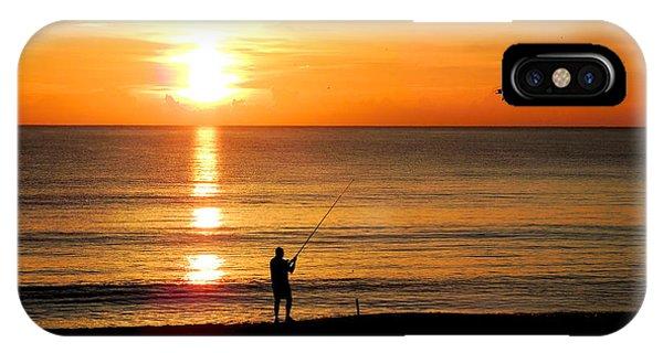 Fishing At Sunrise IPhone Case