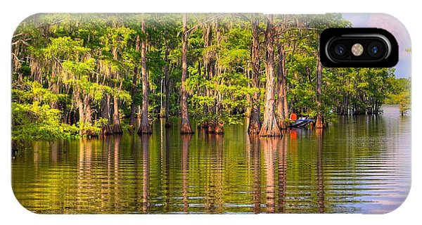 Fishing At The Bayou IPhone Case