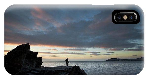 Fishing At Whiterock IPhone Case