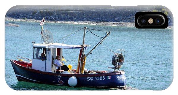 Fishing Boat At Portovenere IPhone Case