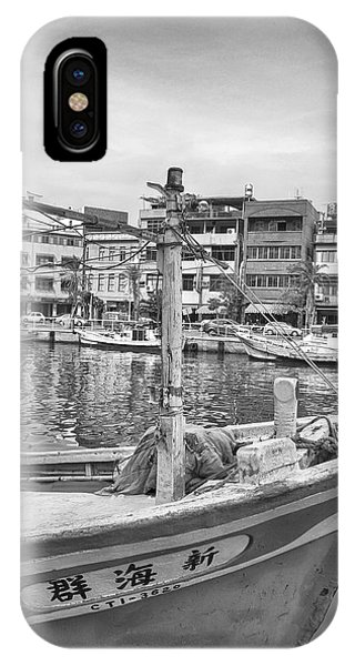 Fishing Boat B W IPhone Case