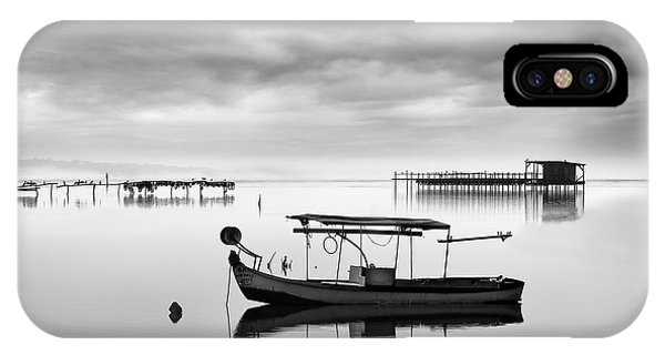 Pier iPhone Case - Fishing Boat II by George Digalakis